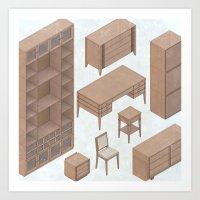 cute furniture Art Print
