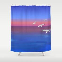 Where the ocean meets the sky Shower Curtain