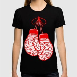 Hanging Boxing Gloves Brains Art T-shirt