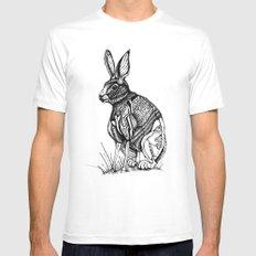 Rabbit MEDIUM White Mens Fitted Tee