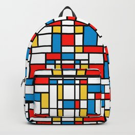 Mondrian design, abstract pattern Backpack