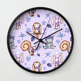 Blizzard Blues IV Wall Clock