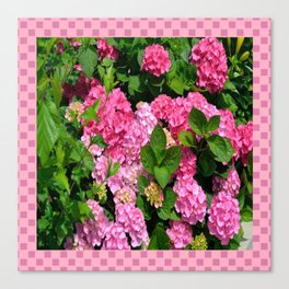 Pink Hydrangeas Canvas Print