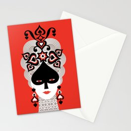 The Queen of spades Stationery Cards