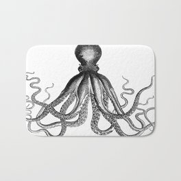 Octopus | Black and White Bath Mat