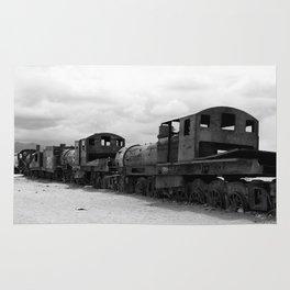 Train Graveyard, Uyuni, Bolivia Rug