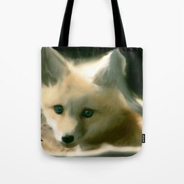 BLUE EYED FOX Tote Bag