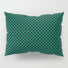 Lush Meadow and Black Polka Dots Pillow Sham