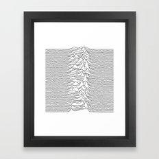 Unknown Pleasures - White Framed Art Print