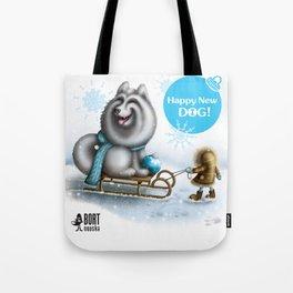 Happy New Dog Tote Bag