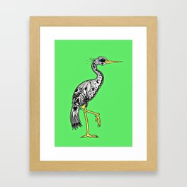 Florida Egret Framed Art Print