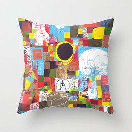 Microcosm Collage Throw Pillow