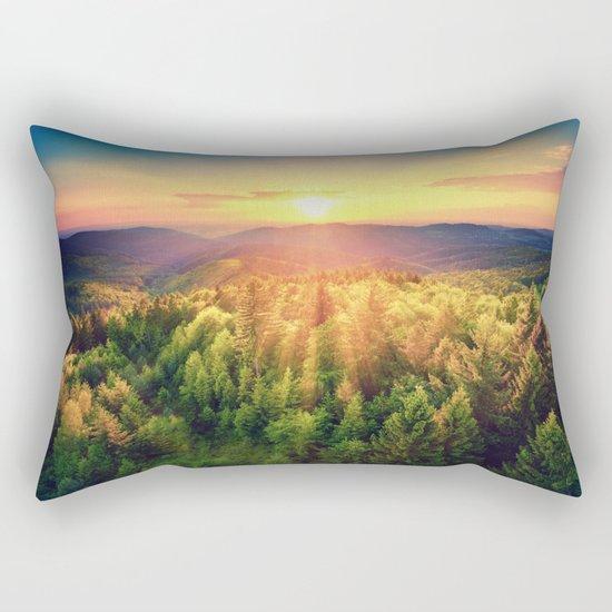 majestic sunrise Rectangular Pillow