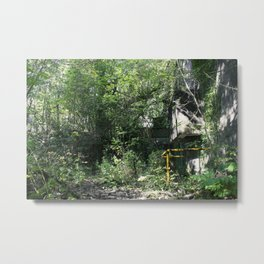 Urbex // AAOR Front Enterance // South Wales Metal Print
