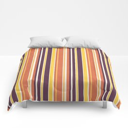 Happy Vertical LInes Comforters