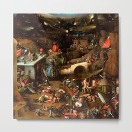 "Hieronymus Bosch ""The Last Judgement"" triptych (Vienna) central panel Metal Print"