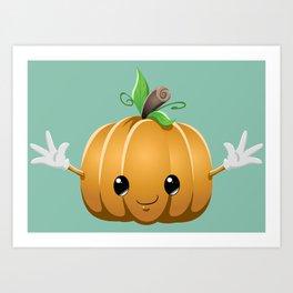 Halloween Pumpkin Monster 6 Art Print