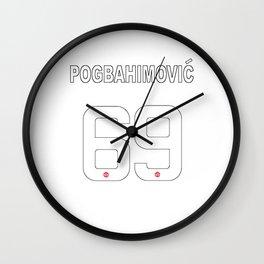 manchester united pogba Wall Clock