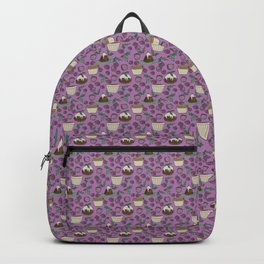 Figgy Plum Pudding Christmas Dessert Purple Repeat Backpack