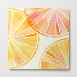 Sunny Citrus Metal Print