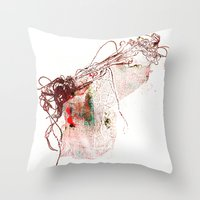 gun Throw Pillows featuring gun by echo3005