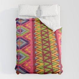 Colorful Guatemalan Alfombra Duvet Cover