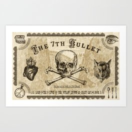 The 7th Bullet - We came to talk to the dead Art Print