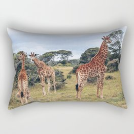 "Giraffes | Travel photography South Africa - one of the ""Big 5"" Rectangular Pillow"