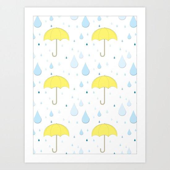 Raindrop Pattern Art Print