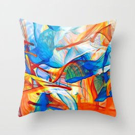 Orange Flag 2 Throw Pillow