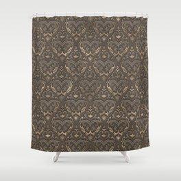 Oriental Pattern - Pastel Beige Leather Shower Curtain