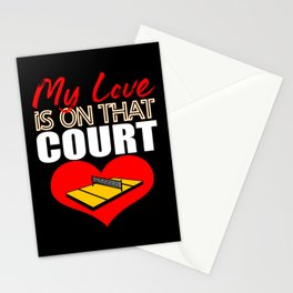 Volleyball Love Volleyball Court Net Sports Stationery Cards