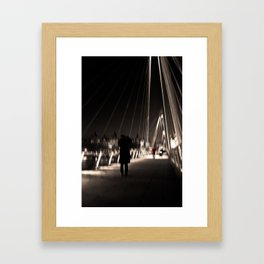 Golden Jubilee Bridge - City of London - UK Framed Art Print