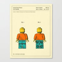 jazzberry Canvas Prints featuring TOY FIGURE by Jazzberry Blue