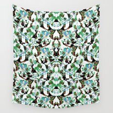 Aztec Floral Pattern Wall Tapestry