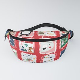 Christmas around the World red #Christmas Fanny Pack