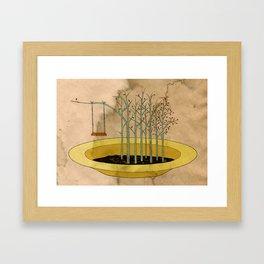 - the swing in the soup - Framed Art Print