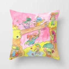 Dryad Gathering Throw Pillow
