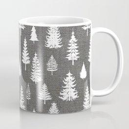 Pine Forest on Dark Linen Coffee Mug