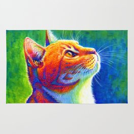 Rainbow Cat Portrait Rug