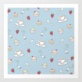 Afternoon Tea - Pretty Pattern Art Print