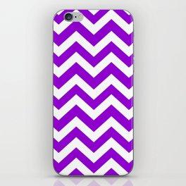 Dark violet - violet color - Zigzag Chevron Pattern iPhone Skin
