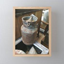 Milk bucket Framed Mini Art Print