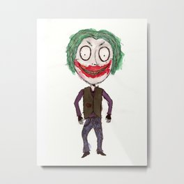 WHY SO SERIOUS? HEATH JOKER IN TIM BURTON STYLE Metal Print