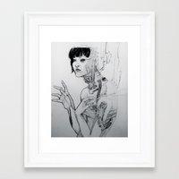 cyberpunk Framed Art Prints featuring Cyberpunk Self by Jenna V Genio