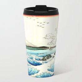 The Great Wave. The Sea At Satta Travel Mug