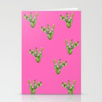craftberrybush Stationery Cards featuring Cactus watercolor  by craftberrybush