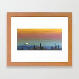 Arizona Moonrise Framed Art Print