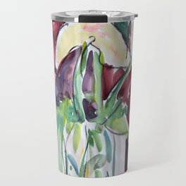 Wild Flowers in Color, Watercolors Travel Mug