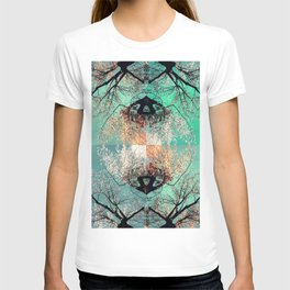 autumn tree - vessel pattern 2 T-shirt